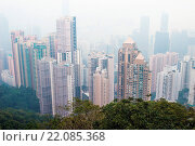Купить «Smog haze over Hong Kong, China», фото № 22085368, снято 16 июля 2019 г. (c) easy Fotostock / Фотобанк Лори
