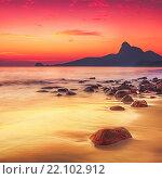 Купить «Восход солнца на море», фото № 22102912, снято 19 января 2011 г. (c) Ольга Хорошунова / Фотобанк Лори