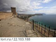 Купить «Генуэзская крепость в Судаке. Крым», эксклюзивное фото № 22103188, снято 19 октября 2015 г. (c) Яна Королёва / Фотобанк Лори