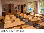 Купить «Оформление учебного класса в школе», фото № 22139452, снято 18 сентября 2019 г. (c) Igor Lijashkov / Фотобанк Лори