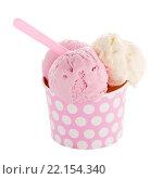 Купить «Ice cream scoop in paper cup», фото № 22154340, снято 21 марта 2019 г. (c) PantherMedia / Фотобанк Лори
