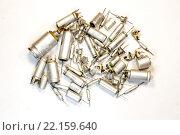 Радиоэлементы - набор конденсаторов. Стоковое фото, фотограф Николай Грушин / Фотобанк Лори