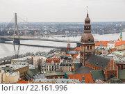 Купить «Вид на Ригу с башни церкви Святого Петра, Рига, Латвия», фото № 22161996, снято 5 марта 2016 г. (c) Мальцев Артур / Фотобанк Лори