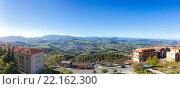 Купить «Панорама Сан Марино и Апеннинские горы. Вид на гору Монте-Титано», фото № 22162300, снято 6 ноября 2013 г. (c) Евгений Ткачёв / Фотобанк Лори
