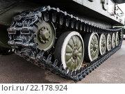 Купить «Гусеница советской зенитной самоходной установки ЗСУ-23-4 «Шилка» (индекс ГРАУ — 2А6)», эксклюзивное фото № 22178924, снято 3 марта 2016 г. (c) Игорь Низов / Фотобанк Лори
