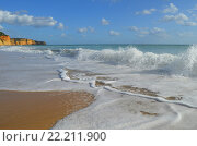 Берег Атлантического океана, Португалия. Стоковое фото, фотограф Калинина Наталья / Фотобанк Лори
