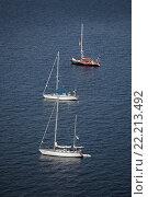 Три яхты (2013 год). Редакционное фото, фотограф Василий Вострухин / Фотобанк Лори