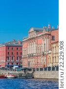 Купить «Beloselsky Belozersky Palace on Fontanka embankment, Saint Petersburg, Russia.», фото № 22229908, снято 28 мая 2015 г. (c) age Fotostock / Фотобанк Лори
