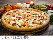 Пицца Шпинат и Фета. Стоковое фото, фотограф Павел / Фотобанк Лори