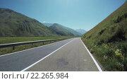 Купить «Езда по горной дороге», видеоролик № 22265984, снято 3 марта 2016 г. (c) Потийко Сергей / Фотобанк Лори