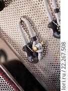 Купить «New cordage assortment on stand close up», фото № 22267508, снято 23 января 2019 г. (c) Яков Филимонов / Фотобанк Лори