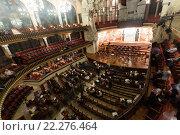Купить «Palau de la Musica Catalana with audience, Spain», фото № 22276464, снято 26 ноября 2015 г. (c) Яков Филимонов / Фотобанк Лори