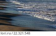 Купить «Sea Surf Waves on Sandy Beach», видеоролик № 22321548, снято 29 февраля 2016 г. (c) Юрий Брыкайло / Фотобанк Лори