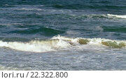 Купить «Sea Waves with Foam. Background.», видеоролик № 22322800, снято 29 февраля 2016 г. (c) Юрий Брыкайло / Фотобанк Лори