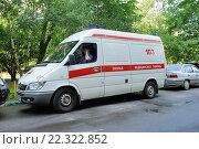Купить «Автомобиль скорой помощи», фото № 22322852, снято 1 августа 2015 г. (c) Денис Ларкин / Фотобанк Лори