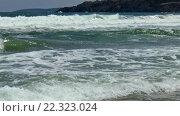 Купить «Sea storm off Rocky Coastline», видеоролик № 22323024, снято 1 марта 2016 г. (c) Юрий Брыкайло / Фотобанк Лори