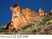 Купить «Canyon outcrops, Leslie Gulch Area of Critical Environmental Concern, Vale District Bureau of Land Management, Oregon.», фото № 22325048, снято 5 июня 2015 г. (c) age Fotostock / Фотобанк Лори