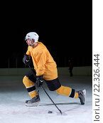 Купить «ice hockey player in action», фото № 22326444, снято 26 мая 2020 г. (c) easy Fotostock / Фотобанк Лори