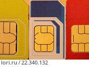 СИМ-карты для мобильных телефонов. Стоковое фото, фотограф Алексей Семенушкин / Фотобанк Лори