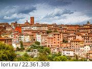 Купить «Панорама Сиены, Италия, Тоскана», фото № 22361308, снято 11 мая 2014 г. (c) Наталья Волкова / Фотобанк Лори