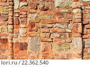 Купить «Текстурированные стены из обожженного кирпича», фото № 22362540, снято 26 марта 2016 г. (c) Зезелина Марина / Фотобанк Лори