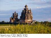 Купить «Преображенский, Покровский храмы и колокольня. Кижи», фото № 22363132, снято 27 апреля 2018 г. (c) Igor Lijashkov / Фотобанк Лори