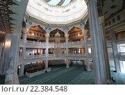Купить «Интерьер московской соборной мечети», фото № 22384548, снято 28 марта 2016 г. (c) Владимир Журавлев / Фотобанк Лори
