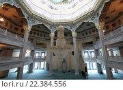 Купить «Интерьер московской соборной мечети», фото № 22384556, снято 28 марта 2016 г. (c) Владимир Журавлев / Фотобанк Лори