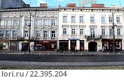 Купить «Улица во Львове, таймлапс», видеоролик № 22395204, снято 7 февраля 2016 г. (c) Валерий Гусак / Фотобанк Лори