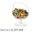 Красочные конфеты  в стакане на белом фоне. Стоковое фото, фотограф Евгений Дубинчук / Фотобанк Лори