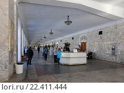 Купить «Бюветы с минеральной водой в Нарзанной галерее города Кисловодска», эксклюзивное фото № 22411444, снято 21 января 2016 г. (c) Алексей Гусев / Фотобанк Лори