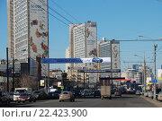 Купить «Улица Новый Арбат в Москве», эксклюзивное фото № 22423900, снято 4 апреля 2010 г. (c) lana1501 / Фотобанк Лори