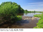 Красивая речка. Стоковое фото, фотограф Алексей Савченко / Фотобанк Лори