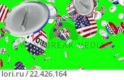 Купить «Voting pin dropping on the floor», видеоролик № 22426164, снято 23 июля 2019 г. (c) Wavebreak Media / Фотобанк Лори