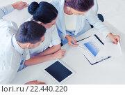 Купить «business team having discussion in office», фото № 22440220, снято 9 июня 2013 г. (c) Syda Productions / Фотобанк Лори