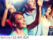 Купить «smiling friends at concert in club», фото № 22441824, снято 20 октября 2014 г. (c) Syda Productions / Фотобанк Лори