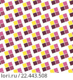 Купить «Seamless Colorful Abstract Pattern from Repetitive Concentric Squares», иллюстрация № 22443508 (c) PantherMedia / Фотобанк Лори