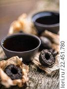 Купить «Pressed pu-erh tea», фото № 22451780, снято 15 октября 2018 г. (c) PantherMedia / Фотобанк Лори
