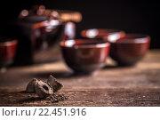 Купить «Pu-erh chinese tea», фото № 22451916, снято 18 августа 2018 г. (c) PantherMedia / Фотобанк Лори