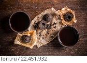 Купить «Bowls of pu erh tea», фото № 22451932, снято 15 октября 2018 г. (c) PantherMedia / Фотобанк Лори