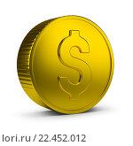 Купить «Золотая монета», иллюстрация № 22452012 (c) Anatoly Maslennikov / Фотобанк Лори