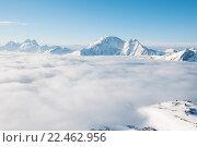 Горы и облака. Стоковое фото, фотограф Дмитрий Шульгин / Фотобанк Лори