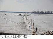 Переправа через реку Северную Двину. Стоковое фото, фотограф Максим Высоких / Фотобанк Лори