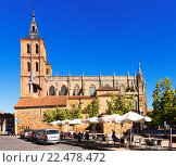 Cathedral of Astorga in summer (2015 год). Редакционное фото, фотограф Яков Филимонов / Фотобанк Лори