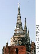 Купить «Wat Phra Si Sanphet Ayutthaya Thailand.», фото № 22479072, снято 19 ноября 2005 г. (c) age Fotostock / Фотобанк Лори