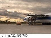 """Купить «Крупнейший в мире грузовой самолет """"Руслан"""" Ан-124-100. Россия», фото № 22493780, снято 21 октября 2013 г. (c) oleg savichev / Фотобанк Лори"""