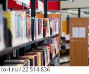 Купить «Interior of library with book shelves», фото № 22514836, снято 25 ноября 2014 г. (c) Sergey Nivens / Фотобанк Лори