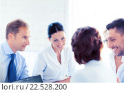 Купить «businesswoman with team on meeting in office», фото № 22528200, снято 9 июня 2013 г. (c) Syda Productions / Фотобанк Лори