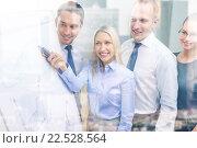 Купить «business team with flip board having discussion», фото № 22528564, снято 9 ноября 2013 г. (c) Syda Productions / Фотобанк Лори