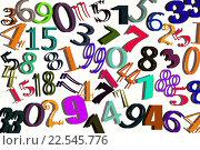 Купить «Цифры разных шрифтов на белом фоне», иллюстрация № 22545776 (c) Сергеев Валерий / Фотобанк Лори